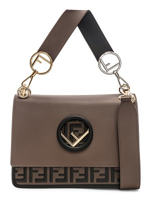 Fendi Two Tone Logo Shoulder Bag