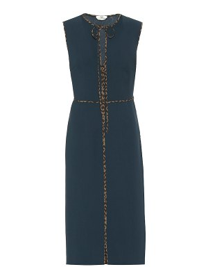 Fendi virgin wool crêpe midi dress
