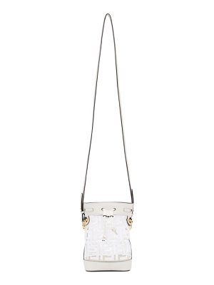 Fendi white pvc f is  mon tresor bucket bag