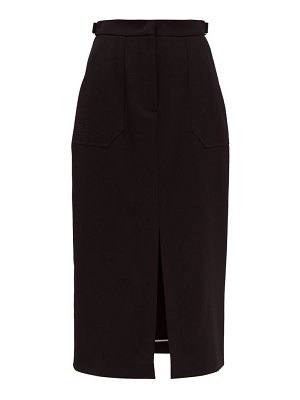 Fendi wool gabardine midi skirt