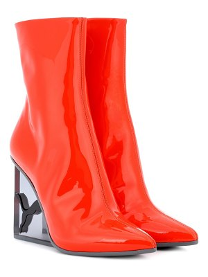 Fenty by Rihanna patent leather ankle boots