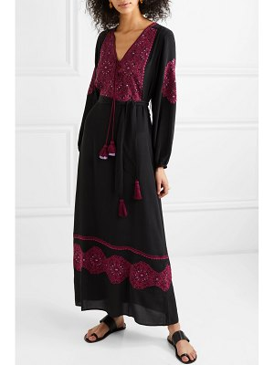 Figue anika embroidered silk-georgette maxi dress