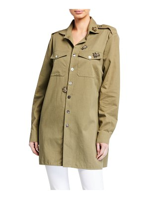 Figue Bug-Embellished Military Shirt
