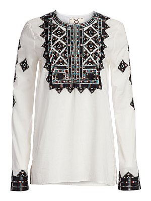 Figue iris embroidery tunic top
