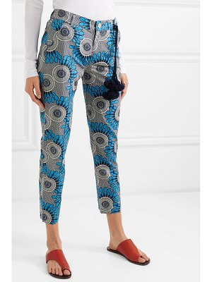 Figue zulu cropped printed cotton straight-leg pants