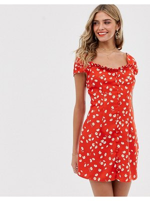 Finders Keepers mae mini dress-red