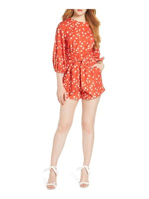 Finders Keepers mae tie waist romper