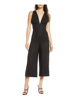 Finders Keepers sally crop wide leg jumpsuit