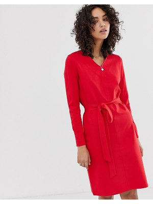 Finery elm belted dress-red