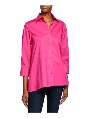 Finley Button-Down 3/4-Sleeve Trapeze Shirt