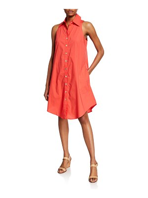 Finley Button-Front & Back Sleeveless Swing Dress