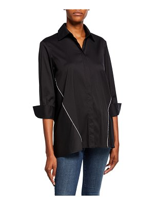 Finley Jody Button-Down Reverse Trapeze Tunic