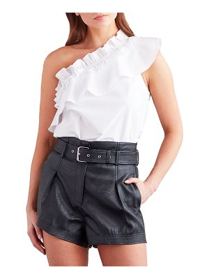 Finley Kate One-Shoulder Scrunched Ruffle Top