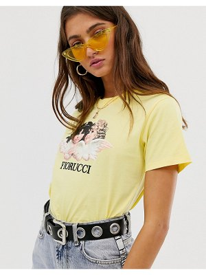FIORUCCI vintage angels t-shirt in lemon-yellow