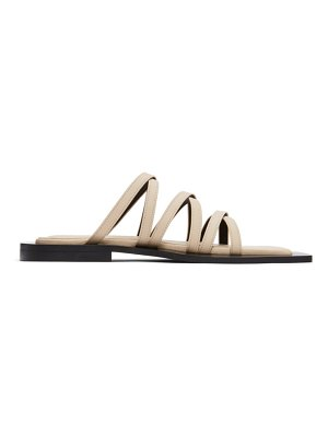 Flat Apartment beige wide sole strappy sandals