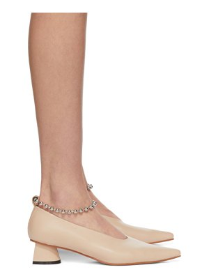 Flat Apartment chain ankle extreme sharp toe heels