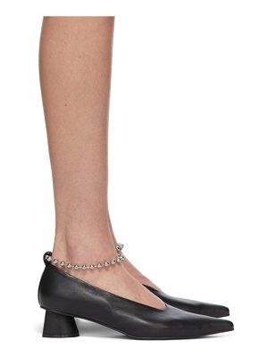 Flat Apartment chain anklet extreme sharp toe heels