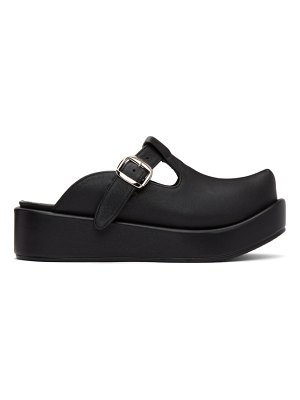 Flat Apartment pointed toe t-bar loafers