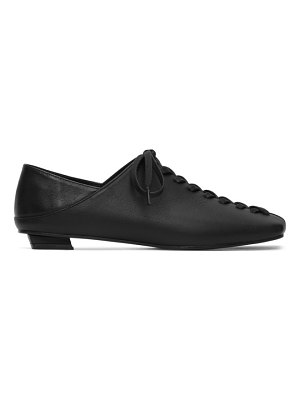 Flat Apartment squared toe lace-up oxfords
