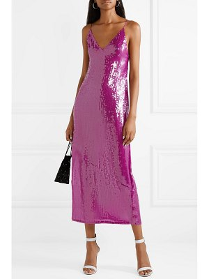 fleur du mal sequined tulle midi dress