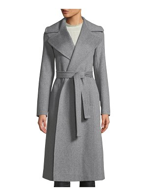 Fleurette Maxi Wrap Wool Coat
