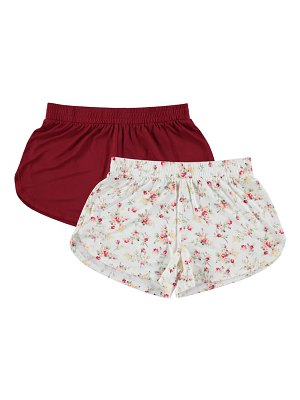 FN CONTEMPORARY flora nikrooz 2-pack lounge shorts