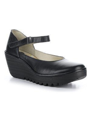 Fly London wedge mary jane loafer