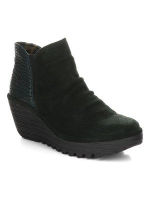 Fly London yamy wedge bootie
