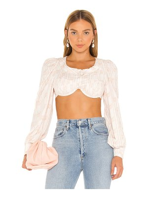 For Love & Lemons carly crop top