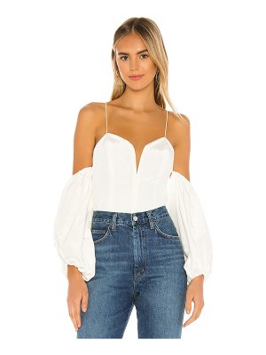 For Love & Lemons celeste moire top