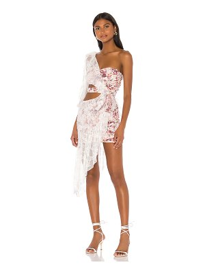 For Love & Lemons dallas one shoulder dress