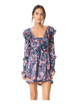 For Love & Lemons flora drawstring mini dress