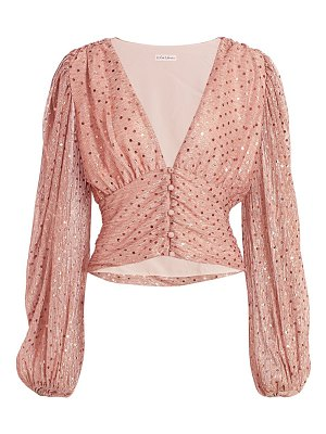 For Love & Lemons la villette cropped blouse