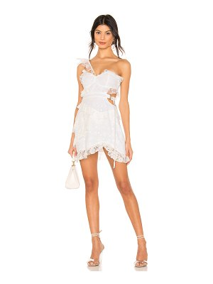 For Love & Lemons lucien one shoulder dress