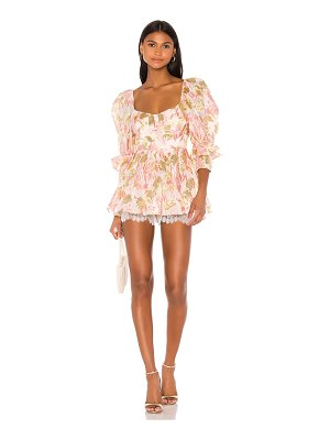 For Love & Lemons madame brocade babydoll romper