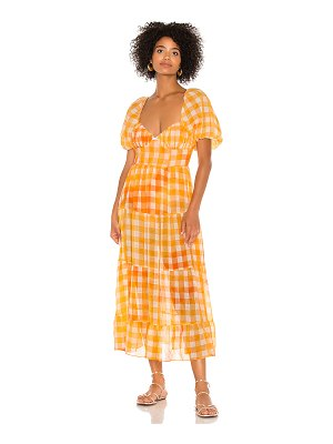 For Love & Lemons mimosa maxi dress