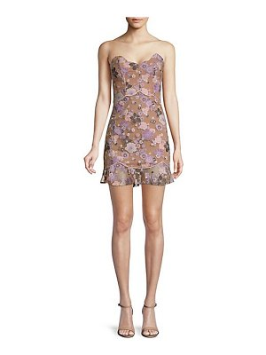 For Love & Lemons posey embroidered mini dress