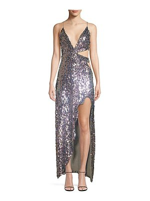 For Love & Lemons showtime sequined cutout gown