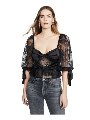 For Love & Lemons sonia lace top