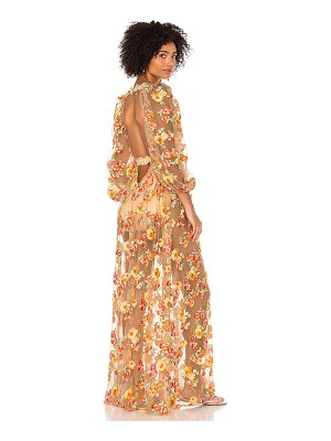 For Love & Lemons winnie embroidered maxi dress