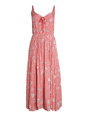 FOR THE REPUBLIC Pleated Floral Maxi Dress
