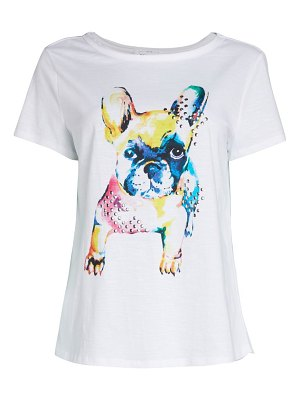 FOR THE REPUBLIC Rainbow Frenchie Dog T-Shirt