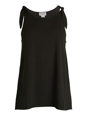 FOR THE REPUBLIC Tie-Shoulder Sleeveless Jersey Top