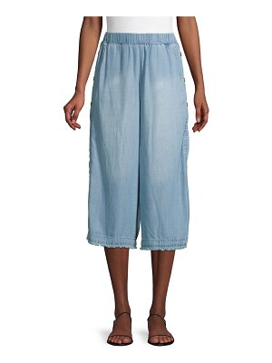 FOR THE REPUBLIC Wide-Leg Cropped Pants
