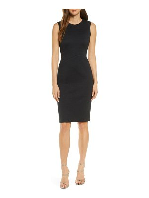 FOREST LILY textured sleeveless sheath dress