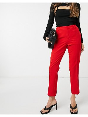 Forever U pants set with satin trim in red