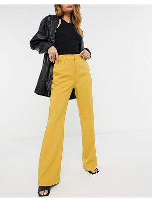 Forever U tailored pants set in mustard-yellow