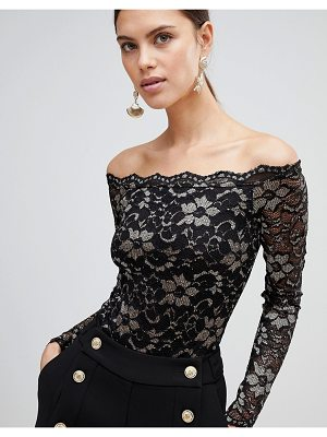 Forever Unique Metallic Lace Bodysuit