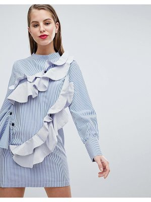 Forever Unique Striped Frill Tunic