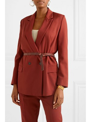 Forte Forte belted double-breasted twill blazer
